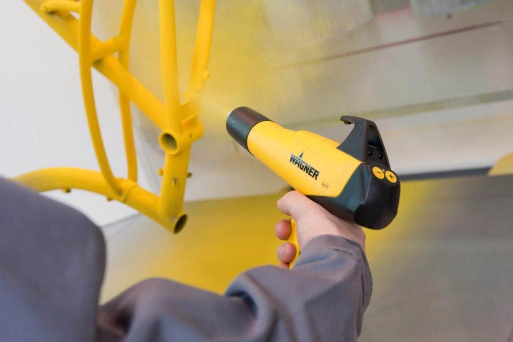 cuidar muebles de exterior - pintura electrostatica