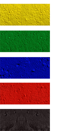 Pintura electrostática - Colores